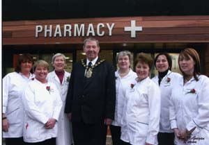 Mayor opening Pharmacy