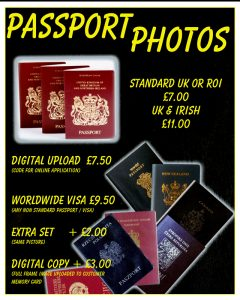 passport photo prices